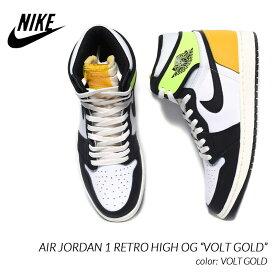 "NIKE AIR JORDAN 1 RETRO HIGH OG ""VOLT GOLD"" ナイキ エア ジョーダン 1 レトロ ハイ スニーカー ( 白 黄色 ゴールド ボルト 555088-118 )"