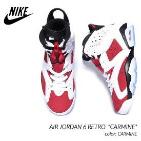 "NIKE AIR JORDAN 6 RETRO ""CARMINE"" ナイキ エア ジョーダン 6 レトロ スニーカー ( カーマイン 白 赤 ホワイト レッド メンズ CT8529-106 )"