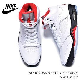 "NIKE AIR JORDAN 5 RETRO ""FIRE RED"" ナイキ エア ジョーダン 5 スニーカー ( ファイヤレッド 白 赤 ホワイト レッド DA1911-102 )"