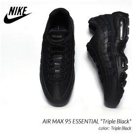 "NIKE AIR MAX 95 ESSENTIAL ""Triple Black"" ナイキ エアマックス エッセンシャル スニーカー ( 黒 ブラック トリプルブラック CI3705-001 )"