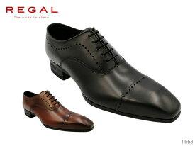 【当店限定ポイント最大10倍!10/15〜10/20エントリーで!】 リーガル REGAL 11LR 11LRBD メンズ ビジネスシューズ ハイヒール仕様でスタイリッシュな印象のストレートチップ(メダリオン) 靴 正規品
