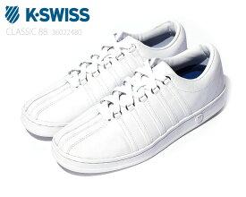 【10/25限定!WエントリーでP最大15倍!楽天カードで】 Kスイス ケースイス クラシック 88 メンズ レディース ホワイト 白 スニーカー レザー テニスシューズ カジュアル デイリー スポーツ ウォーキング K-SWISS Classic 88 WHITE 36022480 正規品 新品 ユニセックス