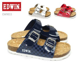 エドウィン EDWIN キッズ フットベットサンダル EW9833 カジュアルサンダル ビーチサンダル おしゃれ 靴