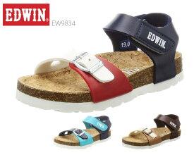エドウィン EDWIN キッズ フットベットサンダル EW9834 カジュアルサンダル ビーチサンダル おしゃれ 靴
