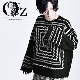 Geometric pattern knit