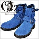 【Oz select】Short engineer boots†ブーツ エンジニアブーツ スウェード ショート くしゅくしゅ ドレープ V系 ファッション ヴィ...