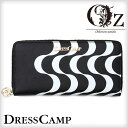 【DRESSCAMP】Kinetic pattern round zip wallet†ドレスキャンプ サイフ 財布 ウォレット 長財布 プリント 総柄 V系 …