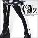 【Oz select】Sideline jersey pants†ジャージ パンツ サイドライン スキニー 裾zip V系 ファッション メンズ ヴィジュアル系...
