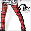 【Oz select】Sideline check pants†チェック スキニー パンツ チェック柄 サイドライン V系 ファッション メンズ ヴィジュアル系...
