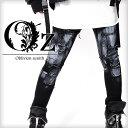 【Oz select】Paint patch skinny pants†スキニー パンツ スキニーパンツ ペイント ペンキ V系 ファッション メンズ ヴィジュ...