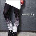 【minority】Oblique PANTS†スキニー パンツ スキニーパンツ 細身 タイト 裾zip グラデーション 柄 V系 ファッション…
