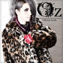 【Oz select】Leopard fake fur long coat†ファーコート ヒョウ柄 レオパード ファー コート ロングコート 豹柄 V系 ファッション メンズ ヴィジュアル系 ロング丈