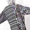Noise TEE†V派时装大的T恤大的TEE长T shatsumenzuvijuaru系统总花纹印刷视觉派的锁头ROCK朋克摇滚时装原宿系统花哨超过尺寸个性性的个性派女士Oz ozu