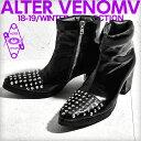 【ALTER VENOMV オルターベノム】Knell BOOTS†ブーツ ヒールブーツ スタッズ エナメル 靴 V系 ファッション ヴィジュ…