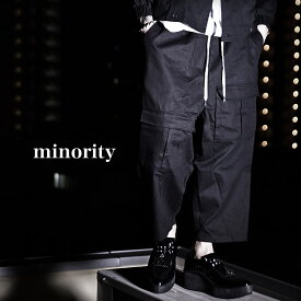 【minority】Cargo wide mode pants†ワイドパンツ サルエルパンツ カーゴパンツ モード系 メンズ パンツ クロップドパンツ アンクルパンツ ブラック ストリート系 ファッション ブラック ロック ROCK ロックファッション 春 新作 個性的 個性派 Oz オズ