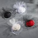 礼装帽子 ヘッドドレス トーク帽 ヘアアクセサリー ウェディングハット ミニ 帽子 チュール フラワー 小物 ブライダル小物 ウェディン…