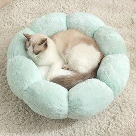 送料無料 ペットベッド 円形フラワー 小型 中型 大型 犬用 グリーン グレー ピンク 猫用ベッド 犬用品 猫用品 体重4kg〜9kg ペット用品 滑り止め クッション お花 ペットクッション おしゃれ 可愛い 暖かい 四季適用 mg005w