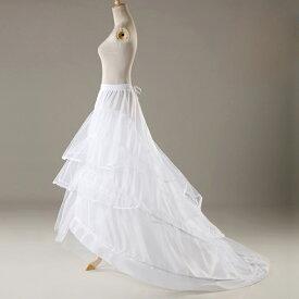 ロングトレーンパニエ ウェディングドレス パニエ 2本ワイヤー パニエ ウエディングドレス ワイヤー 2本