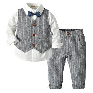 スーツ ブレザー 男の子 セット ベビー 半袖シャツ パンツ サスペンダー ホワイト 子供服 ボーイズ フォーマル 入学式 入園式