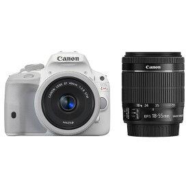 【中古】【1年保証】【美品】Canon EOS Kiss X7 40mm F2.8 STM + 18-55mm IS STM ホワイト