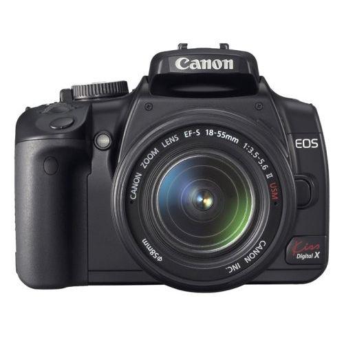 【中古】【1年保証】【美品】Canon EOS Kiss デジタル X レンズキット ブラック
