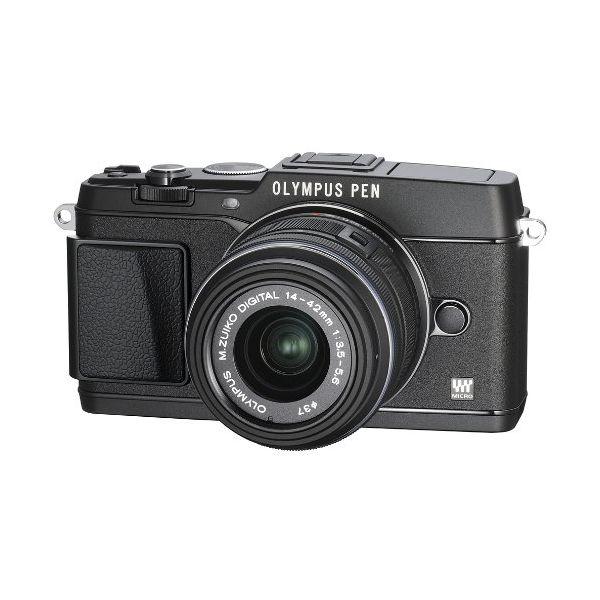 【中古】【1年保証】【美品】 OLYMPUS E-P5 14-42mm VF-4セット ブラック