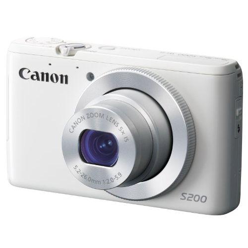 【中古】【1年保証】【美品】Canon PowerShot S200 ホワイト