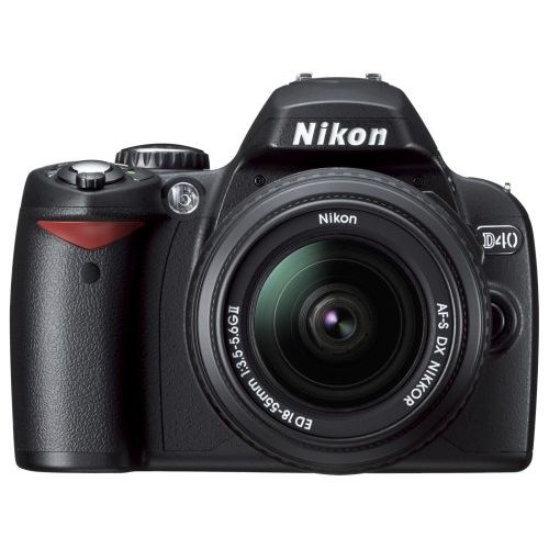 【中古】【1年保証】【美品】 Nikon D40 18-55mm F3.5-5.6 II 付属 ブラック