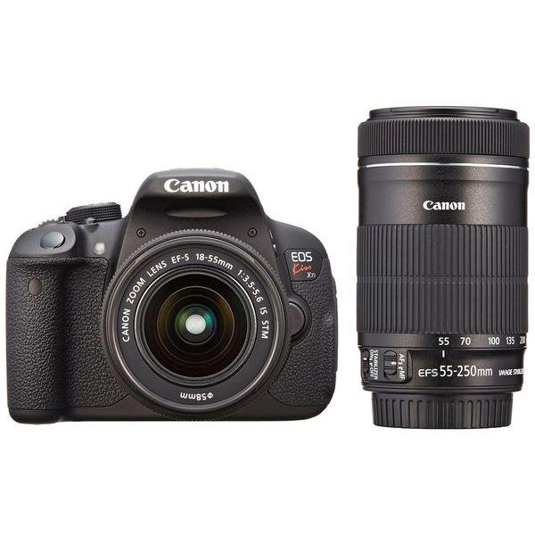 【中古】【1年保証】【美品】Canon EOS Kiss X7i 18-55mm STM / 55-250mm STM