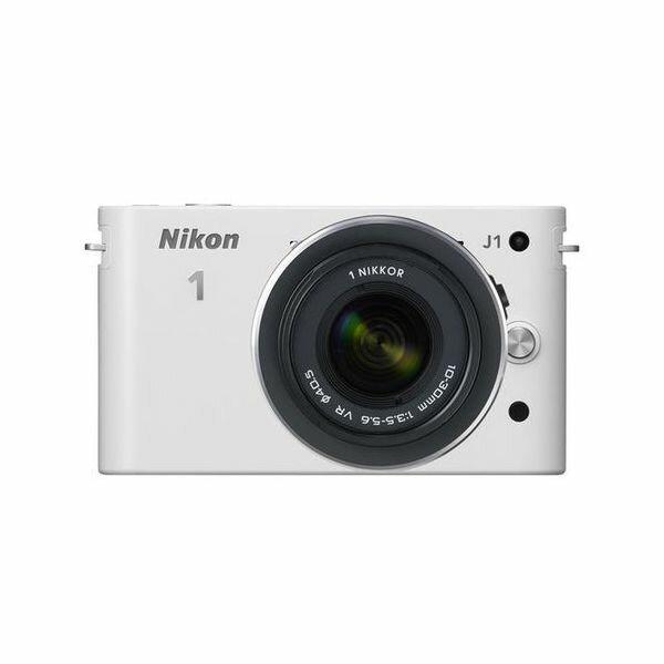 【中古】【1年保証】【美品】 Nikon J1 標準ズームレンズキット ホワイト