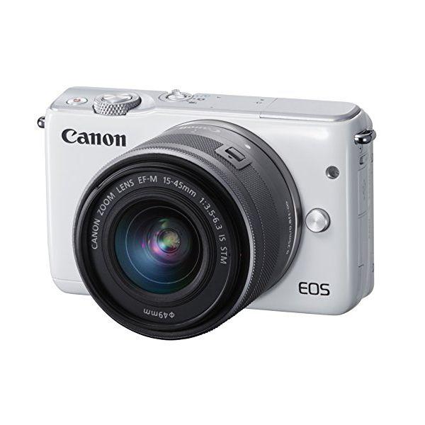 【中古】【1年保証】【美品】Canon EOS M10 15-45mm IS STM レンズキット ホワイト