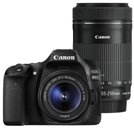 【中古】【1年保証】【美品】Canon EOS 80D 18-55mm / 55-250mm ダブルズームキット