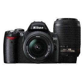 【中古】【1年保証】【美品】Nikon D40 18-55mm II 55-200mm VR ダブルズームキット ブラック