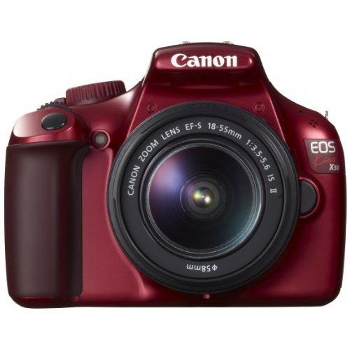 【中古】【1年保証】【美品】 Canon EOS Kiss X50 EF-S 18-55 IS II レッド