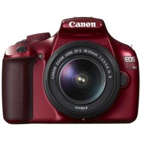 【中古】【1年保証】【美品】Canon EOS Kiss X50 EF-S 18-55mm IS II レッド