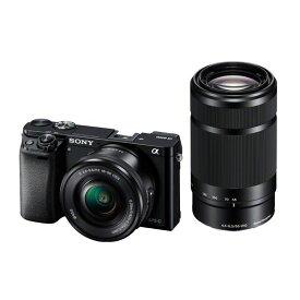 【中古】【1年保証】【美品】SONY α6000 ダブルズームキット PZ 16-50mm + 55-210mm ブラック ILCE-6000Y