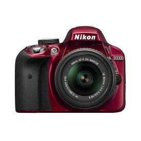 【中古】【1年保証】【美品】Nikon D3300 18-55mm VR II レンズキット レッド