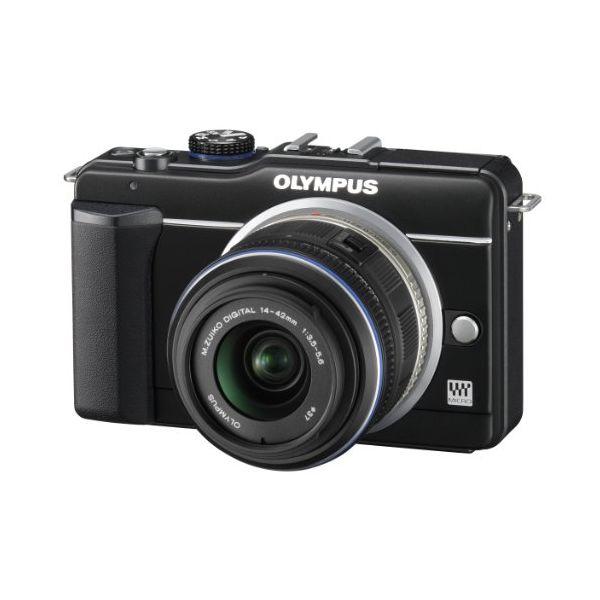 【中古】【1年保証】【良品】OLYMPUS E-PL1S レンズキット ブラック