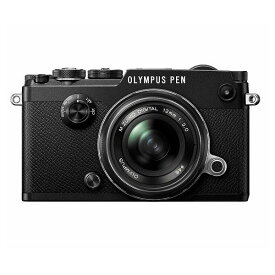 【中古】【1年保証】【美品】OLYMPUS PEN-F 12mm F2.0 レンズキット ブラック