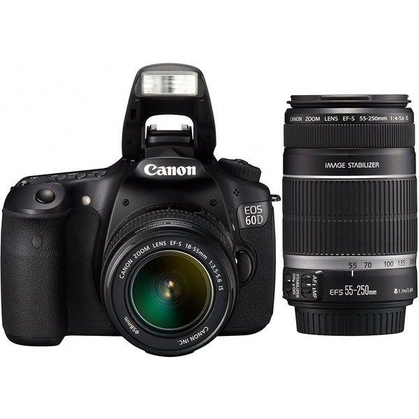 【中古】【1年保証】【美品】Canon EOS 60D ダブル EF-S 18-55mm / 55-250mm