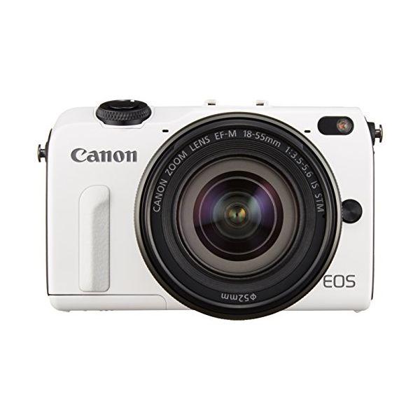 【中古】【1年保証】【美品】Canon EOS M2 レンズキット 18-55mm IS STM ホワイト