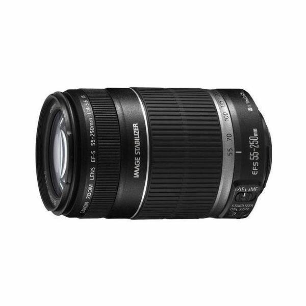 【中古】【1年保証】【美品】 Canon 望遠レンズ EF-S 55-250mm F4-5.6 IS