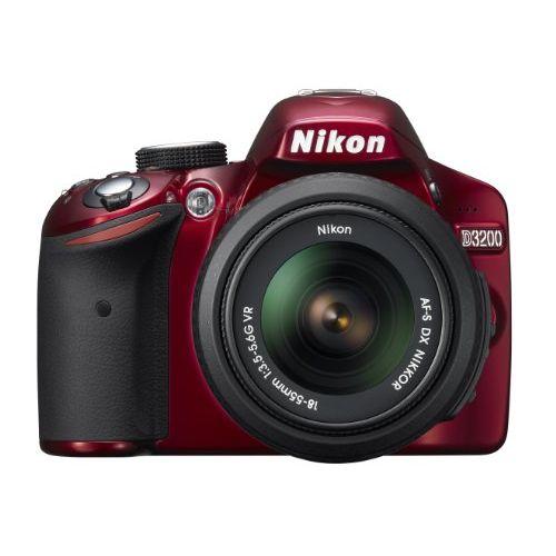 【中古】【1年保証】【美品】Nikon D3200 AF-S 18-55mm VR レッド