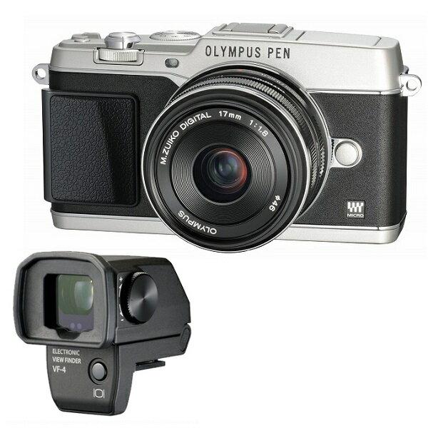 【中古】【1年保証】【美品】 OLYMPUS E-P5 17mm F1.8 VF-4セット シルバー