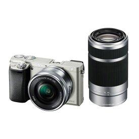 【中古】【1年保証】【美品】SONY α6000 ダブルズームキット PZ 16-50mm + 55-210mm シルバー ILCE-6000Y