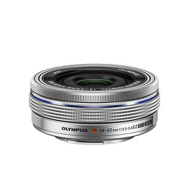 【中古】【1年保証】【美品】OLYMPUS M.ZUIKO DIGITAL ED 14-42mm F3.5-5.6 EZ シルバー