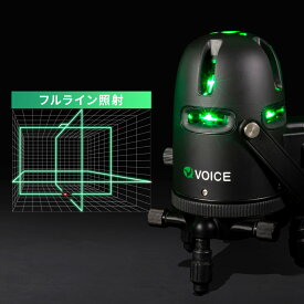 VOICE フルライン グリーンレーザー墨出し器 Model-G8 アプリからの遠隔操作 タッチスイッチ メーカー1年保証 アフターメンテナンスも充実 フルライン照射モデル 墨出器 墨出し 墨だし器 墨出し機 墨出機 墨だし機 レーザーレベル レーザー水平器