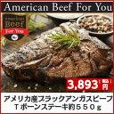 アメリカ産ブラックアンガス チョイスTボーンステーキ550g 牛肉ヒレ 牛ステーキ肉 赤身肉 骨付き