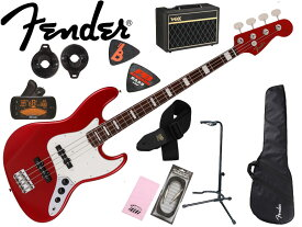 【初心者セット】【アンプ付き エレキベース入門 10点セット】Fender Made in Japan《フェンダー》Traditional Late 60s Jazz Bass(Candy Apple Red) [2021 Collection]【あす楽対応】