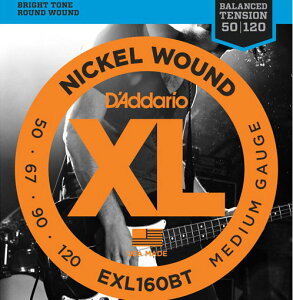 D'Addario 《ダダリオ》EXL160BT Balanced Tension Nickel Wound Electric Bass Strings (Medium)